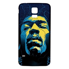 Gabz Jimi Hendrix Voodoo Child Poster Release From Dark Hall Mansion Samsung Galaxy S5 Back Case (white) by Onesevenart