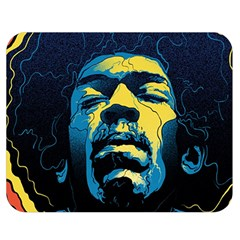 Gabz Jimi Hendrix Voodoo Child Poster Release From Dark Hall Mansion Double Sided Flano Blanket (medium)  by Onesevenart