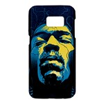 Gabz Jimi Hendrix Voodoo Child Poster Release From Dark Hall Mansion Samsung Galaxy S7 Hardshell Case