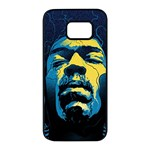 Gabz Jimi Hendrix Voodoo Child Poster Release From Dark Hall Mansion Samsung Galaxy S7 edge Black Seamless Case