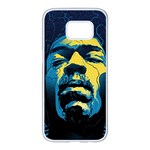 Gabz Jimi Hendrix Voodoo Child Poster Release From Dark Hall Mansion Samsung Galaxy S7 edge White Seamless Case