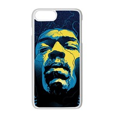 Gabz Jimi Hendrix Voodoo Child Poster Release From Dark Hall Mansion Apple Iphone 7 Plus White Seamless Case by Onesevenart
