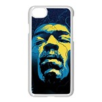 Gabz Jimi Hendrix Voodoo Child Poster Release From Dark Hall Mansion Apple iPhone 7 Seamless Case (White)