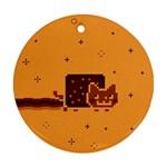 Nyan Cat Vintage Ornament (Round)