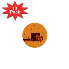 Nyan Cat Vintage 1  Mini Buttons (10 Pack)  by Onesevenart