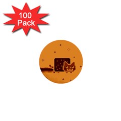 Nyan Cat Vintage 1  Mini Buttons (100 Pack)  by Onesevenart