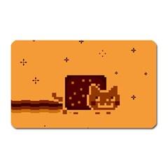 Nyan Cat Vintage Magnet (rectangular) by Onesevenart