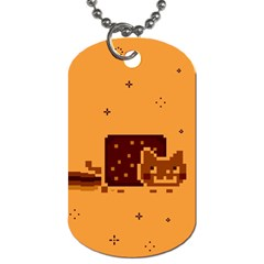 Nyan Cat Vintage Dog Tag (one Side) by Onesevenart