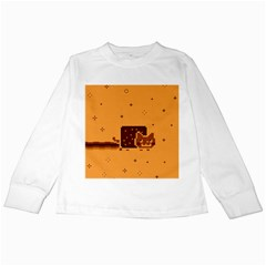 Nyan Cat Vintage Kids Long Sleeve T Shirts by Onesevenart