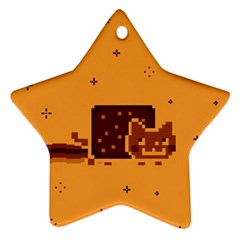 Nyan Cat Vintage Star Ornament (two Sides) by Onesevenart