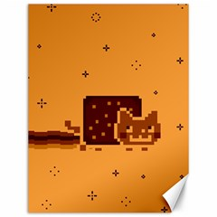 Nyan Cat Vintage Canvas 12  X 16   by Onesevenart