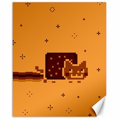 Nyan Cat Vintage Canvas 16  X 20   by Onesevenart