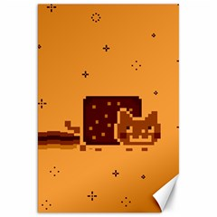 Nyan Cat Vintage Canvas 20  X 30   by Onesevenart