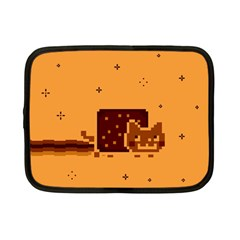 Nyan Cat Vintage Netbook Case (small)  by Onesevenart