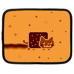 Nyan Cat Vintage Netbook Case (large) by Onesevenart