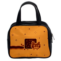 Nyan Cat Vintage Classic Handbags (2 Sides) by Onesevenart