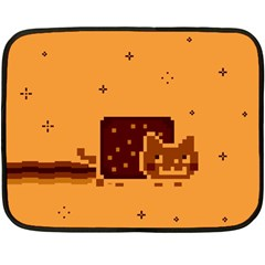 Nyan Cat Vintage Double Sided Fleece Blanket (mini)  by Onesevenart