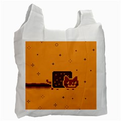 Nyan Cat Vintage Recycle Bag (one Side) by Onesevenart
