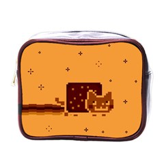 Nyan Cat Vintage Mini Toiletries Bags by Onesevenart