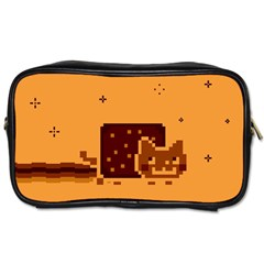 Nyan Cat Vintage Toiletries Bags by Onesevenart