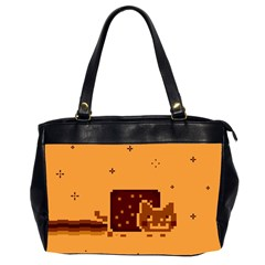 Nyan Cat Vintage Office Handbags (2 Sides)  by Onesevenart