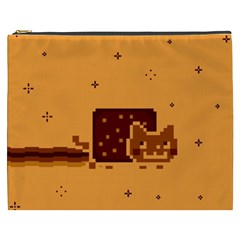 Nyan Cat Vintage Cosmetic Bag (xxxl)  by Onesevenart