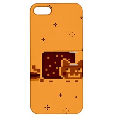 Nyan Cat Vintage Apple Iphone 5 Hardshell Case With Stand by Onesevenart