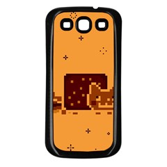 Nyan Cat Vintage Samsung Galaxy S3 Back Case (black) by Onesevenart