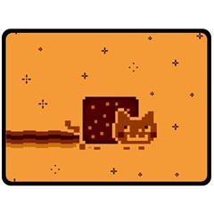 Nyan Cat Vintage Double Sided Fleece Blanket (large)  by Onesevenart