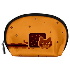 Nyan Cat Vintage Accessory Pouches (large)  by Onesevenart