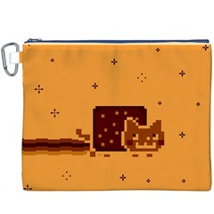 Nyan Cat Vintage Canvas Cosmetic Bag (xxxl) by Onesevenart