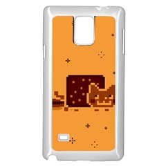 Nyan Cat Vintage Samsung Galaxy Note 4 Case (white) by Onesevenart