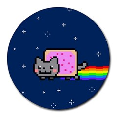 Nyan Cat Round Mousepads by Onesevenart