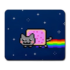 Nyan Cat Large Mousepads by Onesevenart