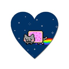 Nyan Cat Heart Magnet by Onesevenart