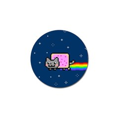 Nyan Cat Golf Ball Marker by Onesevenart