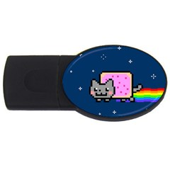 Nyan Cat Usb Flash Drive Oval (2 Gb) by Onesevenart