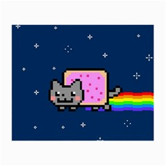 Nyan Cat Small Glasses Cloth by Onesevenart
