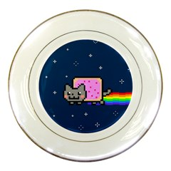 Nyan Cat Porcelain Plates by Onesevenart