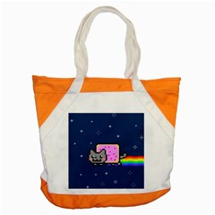 Nyan Cat Accent Tote Bag by Onesevenart