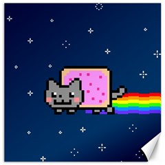 Nyan Cat Canvas 16  X 16   by Onesevenart