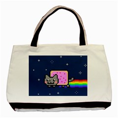 Nyan Cat Basic Tote Bag (two Sides) by Onesevenart