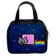 Nyan Cat Classic Handbags (2 Sides) by Onesevenart