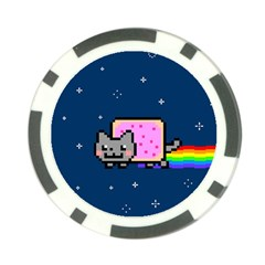 Nyan Cat Poker Chip Card Guard (10 Pack) by Onesevenart
