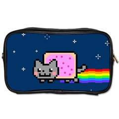 Nyan Cat Toiletries Bags by Onesevenart
