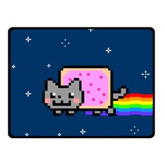 Nyan Cat Fleece Blanket (small) by Onesevenart