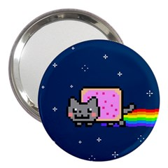 Nyan Cat 3  Handbag Mirrors by Onesevenart