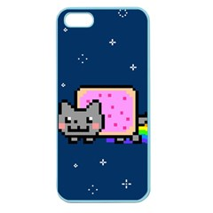 Nyan Cat Apple Seamless Iphone 5 Case (color) by Onesevenart