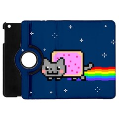 Nyan Cat Apple Ipad Mini Flip 360 Case by Onesevenart