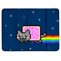 Nyan Cat Samsung Galaxy Tab 7  P1000 Flip Case by Onesevenart